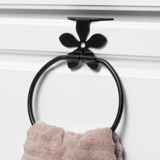 Flower Over the Cabinet Towel Ring