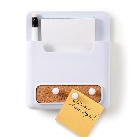 Corkboard Magnetic Message Center