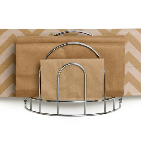 Cabinet & Wall Mount Paper Bag Organizer