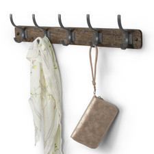 Richmond Wall Mount 5-Hook Wood Rack
