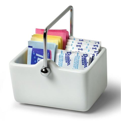Pantry Works Ceramic Sugar Packet Basket