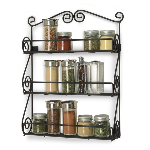 Scroll Wall Mount 3-Tier Spice Rack
