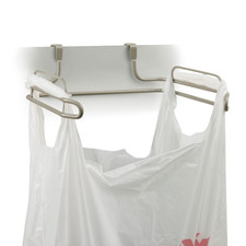 Duo Over the Cabinet Towel Bar & Trash Bag Holder