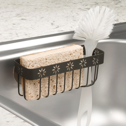 Fiore Suction Sink Sponge & Brush Holder