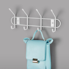 Wall Mount 4-Double Hook Rack
