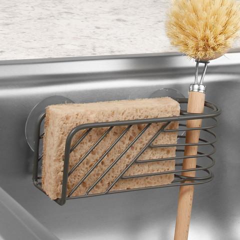 Wright Suction Sink Sponge & Brush Holder