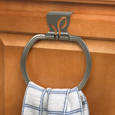Leaf Over the Cabinet Towel Ring