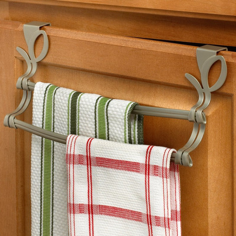 Leaf Over the Cabinet Double Towel Bar