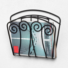 Scroll Wall Mount Magazine Rack