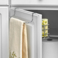 Duo Over the Cabinet Towel Bar & Small Basket