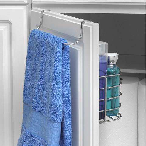 Duo Over the Cabinet Towel Bar & Medium Basket