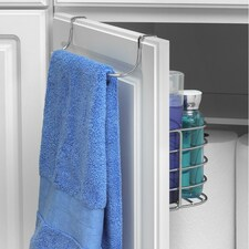 Duo Over the Cabinet Towel Bar & Medium Basket
