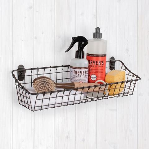 Vintage LivingÓ Medium Cabinet & Wall Mount Basket