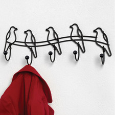 Tweet Wall Mount 5-Hook Rack