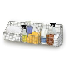 Wall Mount Triple Storage Basket