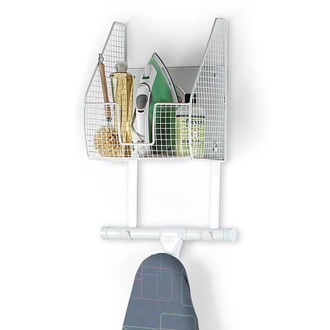 Wall Mount Single Basket with Ironing Board Holder