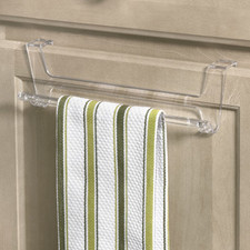 Crystal Over the Cabinet Towel Bar