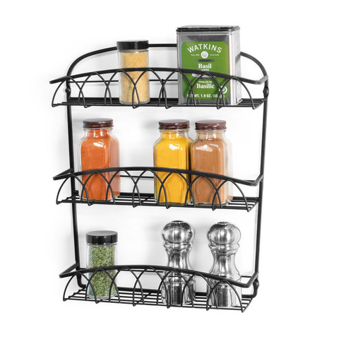 Twist Wall Mount 3-Tier Spice Rack