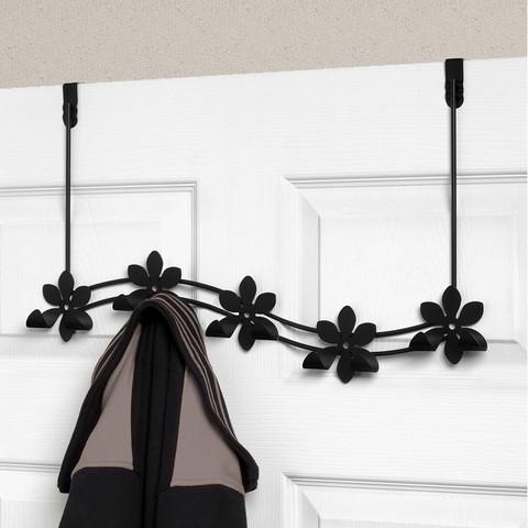 Flower Over the Door 5-Hook Rack
