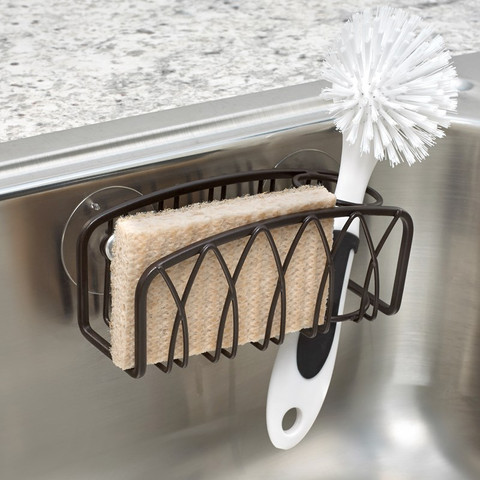 Twist Suction Sink Sponge & Brush Holder