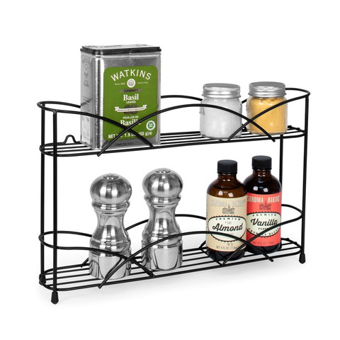 Countertop & Wall Mount 2-Tier Spice Rack