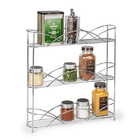Countertop & Wall Mount 3-Tier Spice Rack