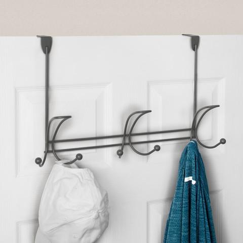 Quazar Over the Door 3-Triple Hook Rack