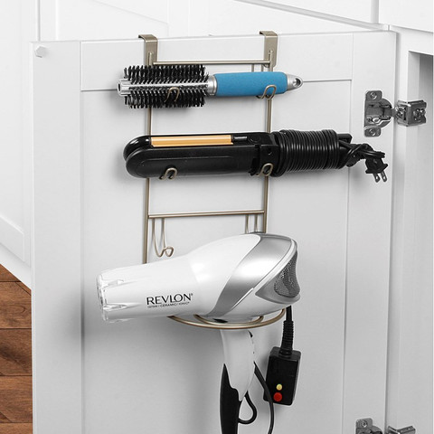 myBella Over the Cabinet Tiered Hair Dryer & Accessory Holder