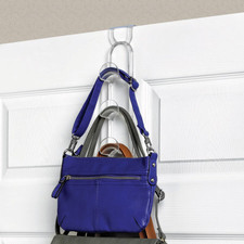 Virgo Over the Door 3-Hook Purse Organizer