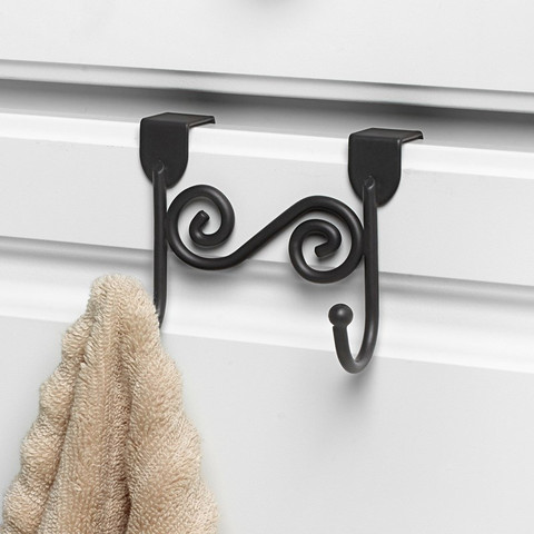 Scroll Over the Cabinet Double Hook