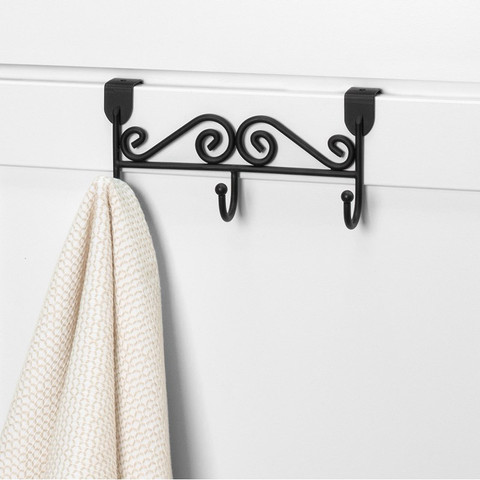 Scroll Over the Cabinet Triple Hook