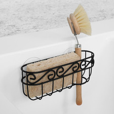 Scroll Suction Sink Sponge & Brush Holder