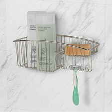 Contempo Suction Shower Basket with Hooks