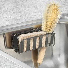 Stripe Suction Sink Sponge & Brush Holder