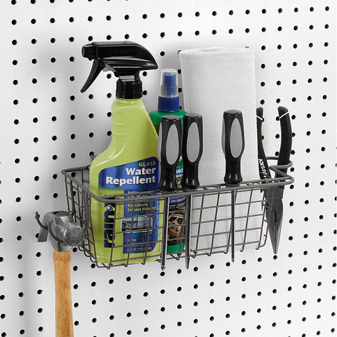 Pegboard Basket & Tool Holder