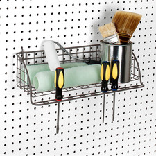 Pegboard Wall Mount Shelf & Tool Organizer