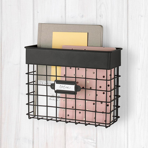 Vintage LivingÓ Wall Mount Small Mail Bin