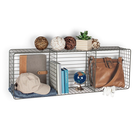 Vintage LivingÓ Wall Mount Triple Storage Cube