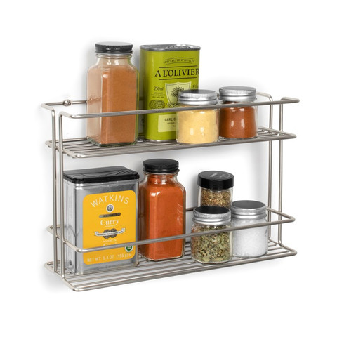 Euro Wall Mount 2-Tier Spice Rack
