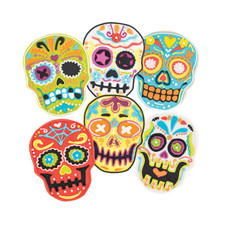 Tovolo Sugar Skull Cookie Cutters (Set of 6)