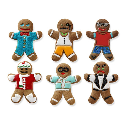 Ginger Boy Cookie Cutters (Set of 6)-1