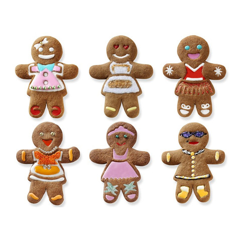 Ginger Girl Cookie Cutters (Set of 6)