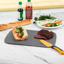 Tovolo Hi-Low Cutting Board, Candy Apple Red
