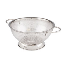 2 Qt. Stainless Steel Perforated Colander - Medium