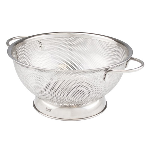 2.5 Qt. Stainless Steel Perforated Colander - Large