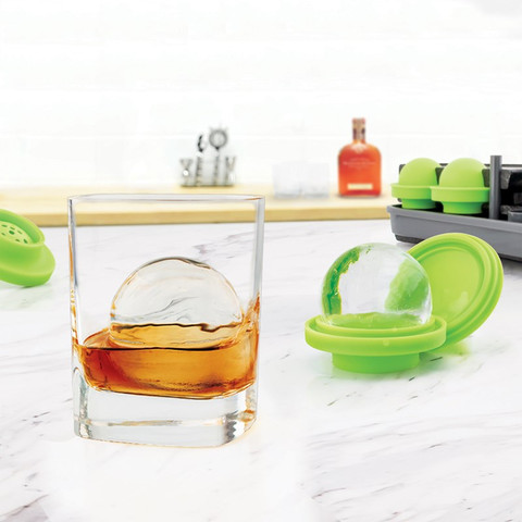 Sphere Clear Ice Mold (Set of 4)-1