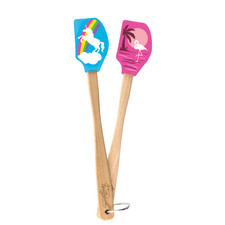 Spatulart Set of 2 Mini Unicorn & Flamingo Spatulas