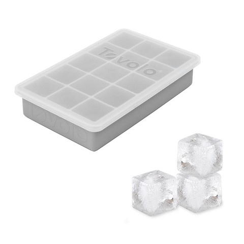 Tovolo Perfect Cube Ice Tray w/ Lid Charcoal