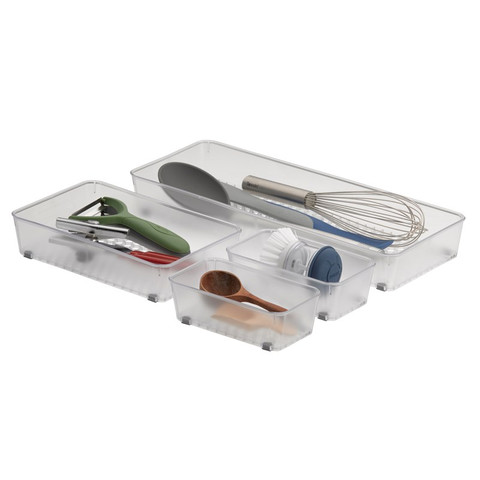 Hexa Clear Drawer Organizer Set of 4
