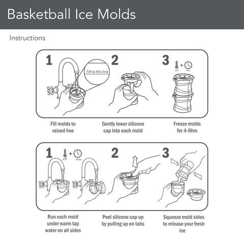 Basketball Ice Molds (Set of 2)